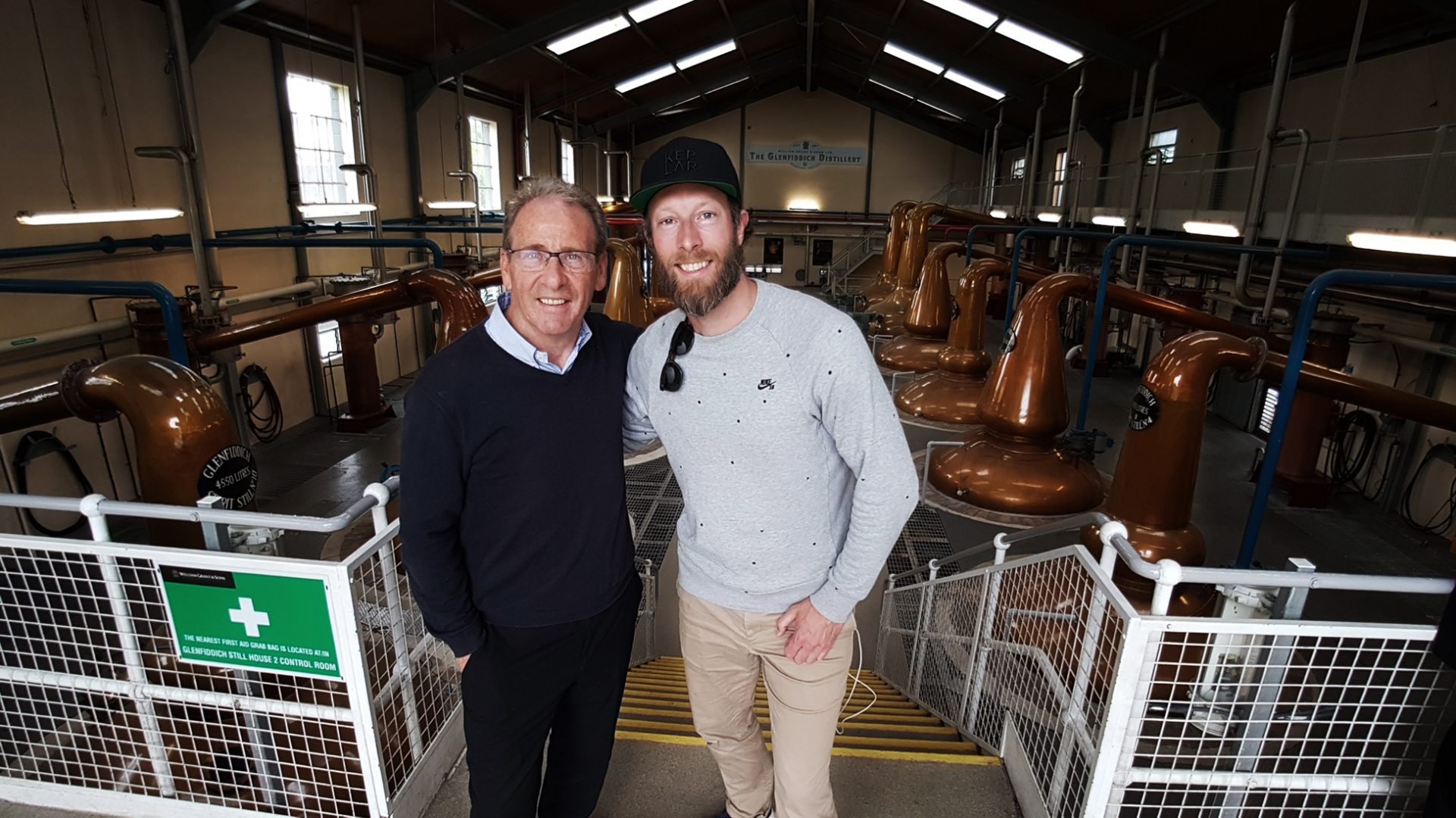 At the Glenfiddich distillery with Ian Millar, prestige manager at The Balvenie