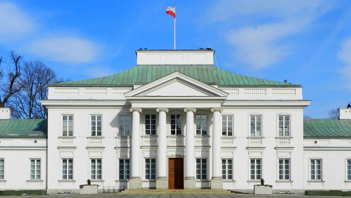 Het Belweder paleis in Warschau dat ook op de fles van Belvedere staat afgebeeld.